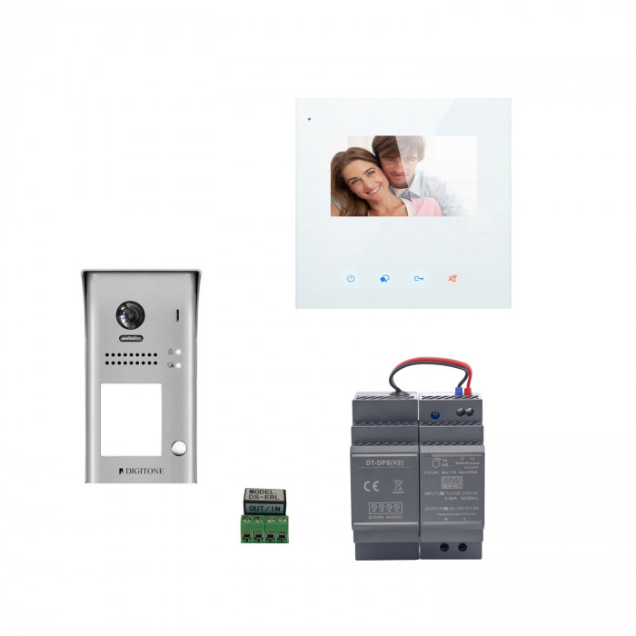 Kit portier vidéo wifi avec moniteur 4.3