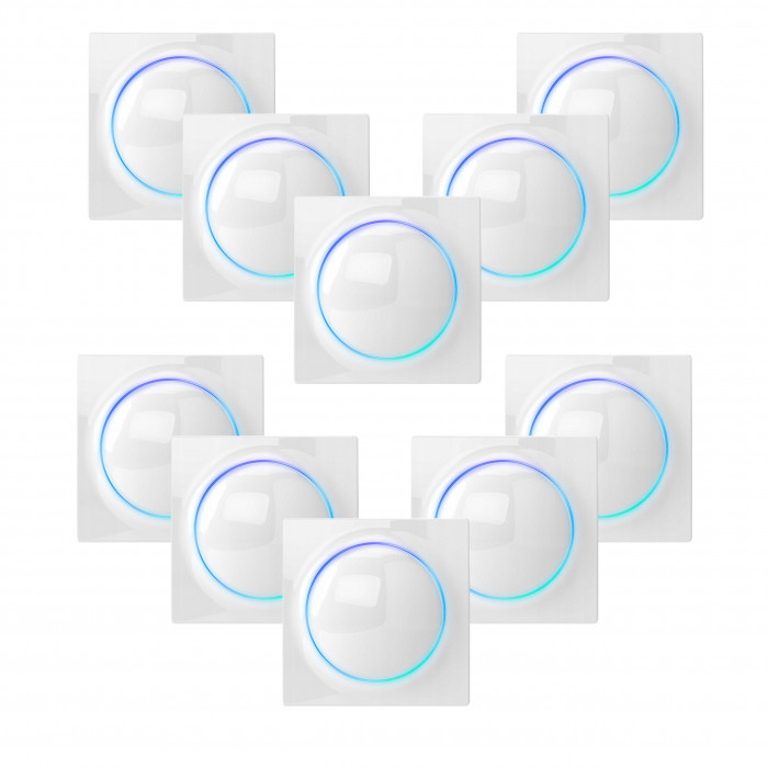 Lot de 10 interrupteurs intelligents Z-Wave - Walli Switch - Fibaro