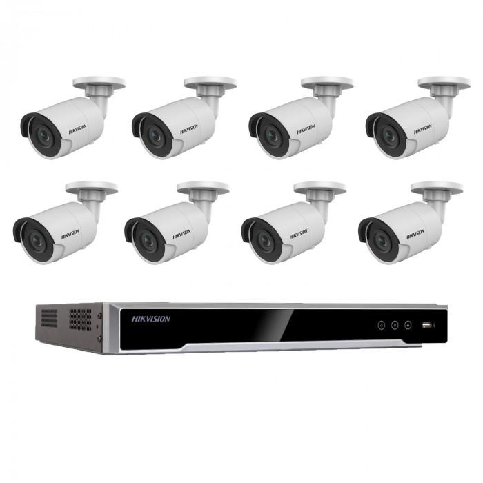 Kit videosurveillance 8 caméras compactes - Hikvision