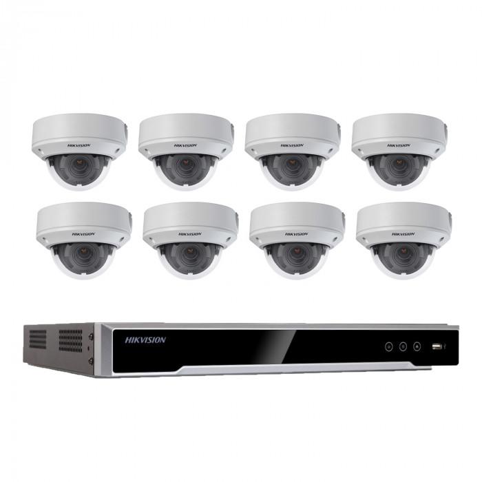 Kit vidéosurveillance 8 caméras dômes - Hikvision