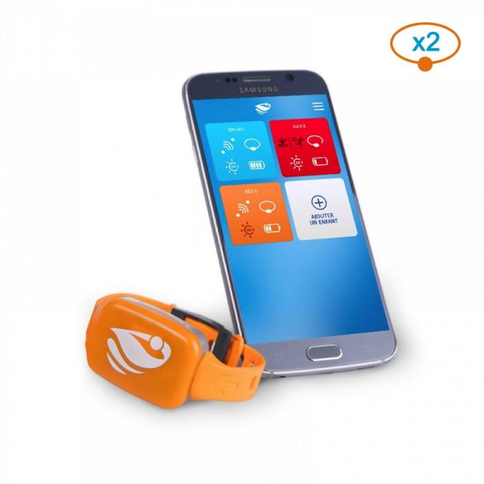 Bracelet de sécurité piscine No stress avec application smartphone – Kit 2