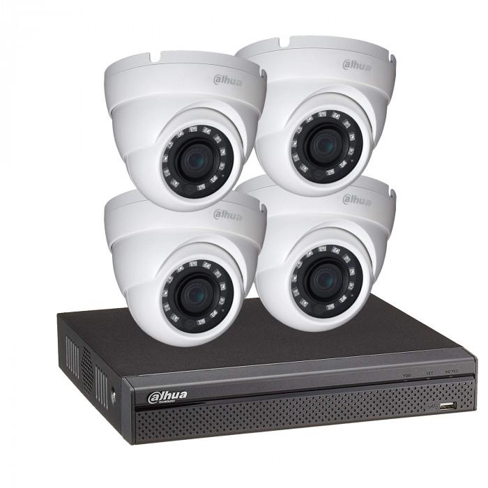 Kit vidéosurveillance enregistreur éco et 4 caméras dôme 1080p - Dahua