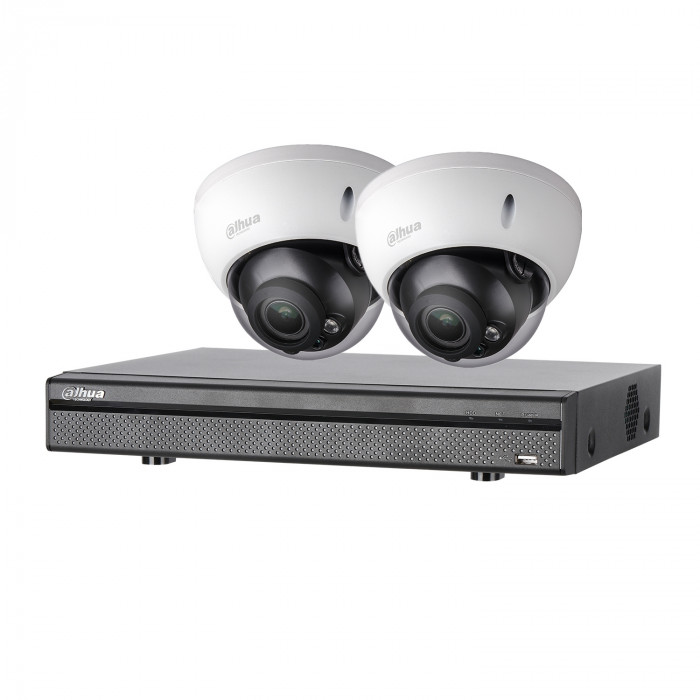 Kit vidéosurveillance 2 caméras anti-vandalisme + enregistreur – 1080p – Dahua