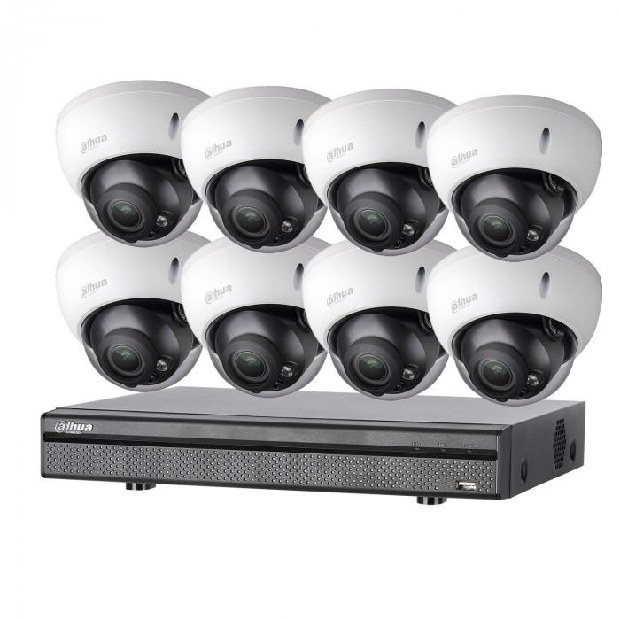 Kit vidéosurveillance 8 caméras anti-vandalisme + enregistreur – 1080p – Dahua