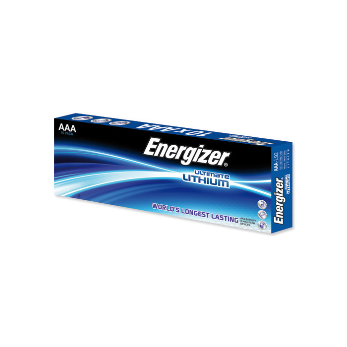 Boite de 10 Piles lithium AAA-LR03-L92 (1.5V) - Energizer