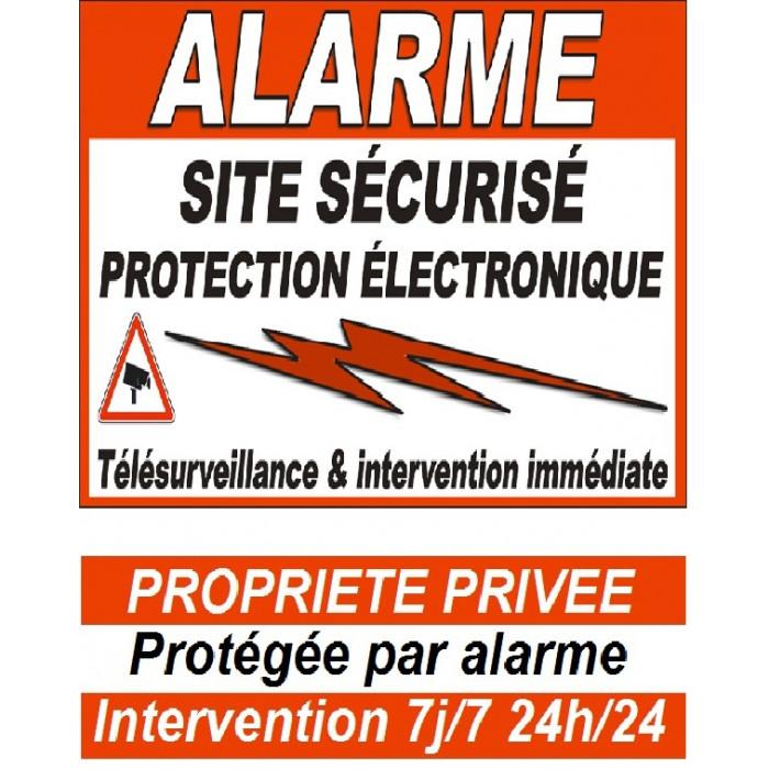 Stickers alarme porte et portail