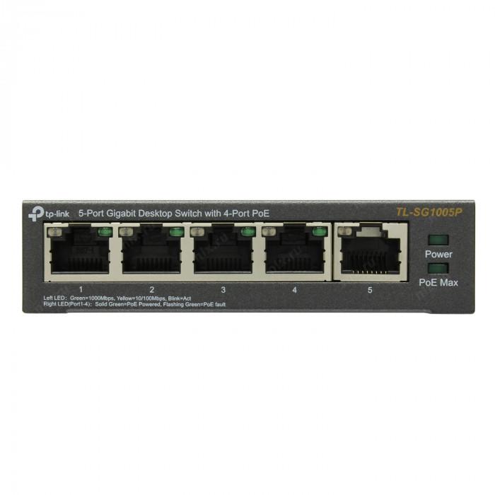Switch TP-Link 5 ports Gigabit dont 4 PoE - TL-SG1005P