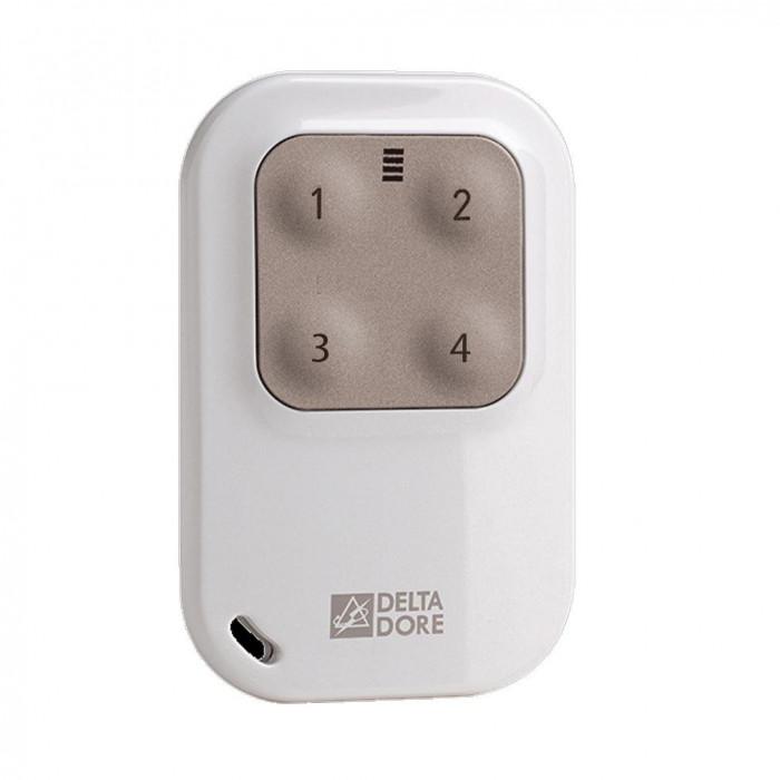 Télécommande porte-clé pour 4 automatismes / éclairages - Delta Dore
