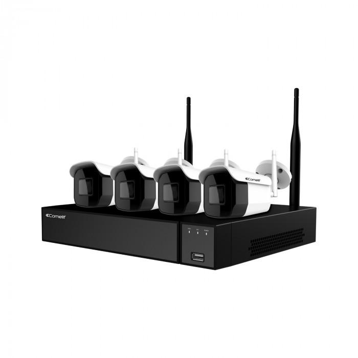 Kit de vidéosurveillance Wi-Fi 4 Caméras et NVR 8 voies - Comelit