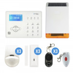 KIT ALARME TACTILE GSM + SIRENE SOLAIRE