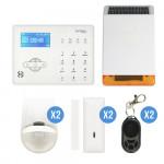 alarme GSM pour maison avec sirène sans fil solaire