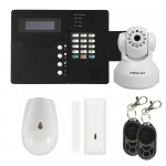 Alarme maison GSM + Caméra IP Wifi HD Blanche