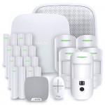 Alarme maison sans fil Ajax Hub 2 Plus - Kit 6 - Blanc