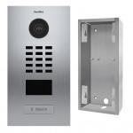 Portier video IP avec lecteur de badge RFID - 1 Sonnette - Inox - Doorbird