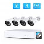 Kit de vidéosurveillance IP 4 caméras PoE + 1 enregistreur 8 voies - Foscam