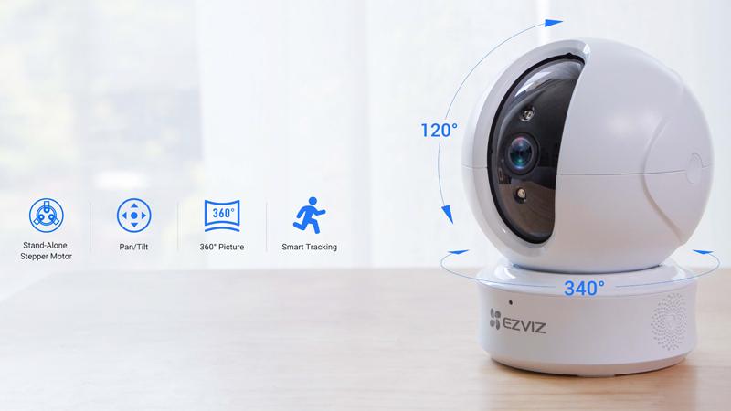 Caméra Wi-Fi intérieure avec motorisation PTZ