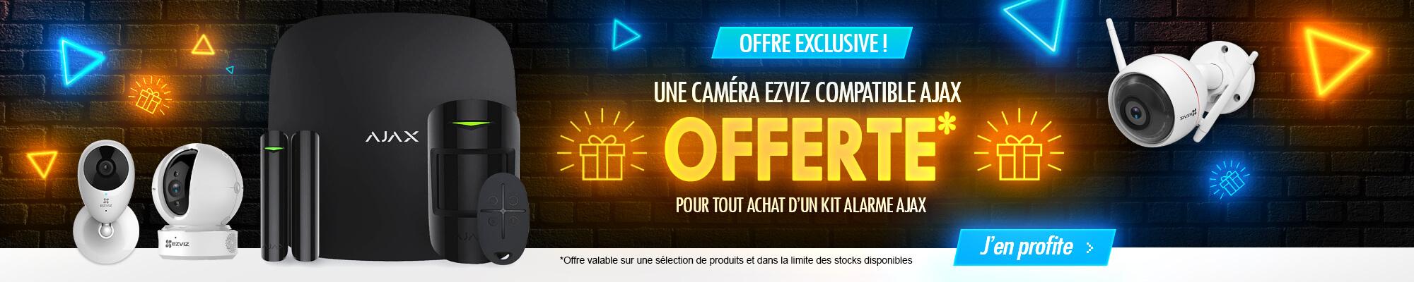 Une caméra Ezviz offerte avec votre pack alarme Ajax